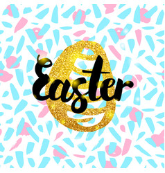 Easter hand drawn design vector