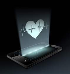 Icon heart on the screen vector image vector image