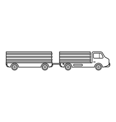 Trailer icon outline style vector image vector image