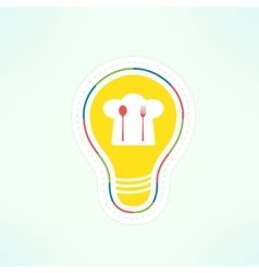 cooking idea design element Food recipe vector image