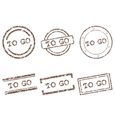 To go stamps vector image