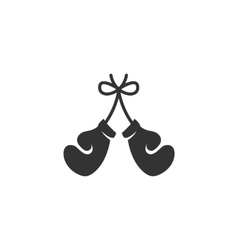 Boxing gloves icon isolated on a white background vector