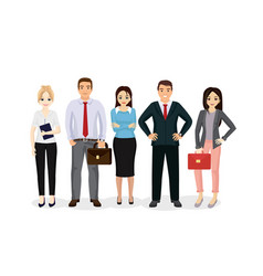 business people team happy vector image
