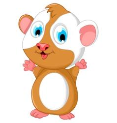 happy fat hamster cartoon posing vector image