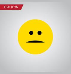 Isolated mood flat icon displeased element vector