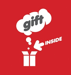 Logo gifts box and a cloud vector