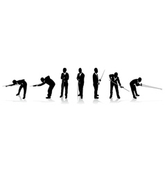 snooker players vector image