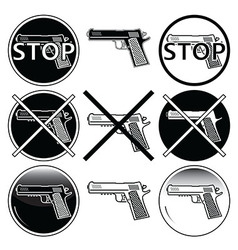 Stop selling use and illegal underage use guns vector image