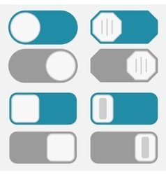 Toggle switch on off button vector image vector image