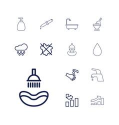 13 drop icons vector