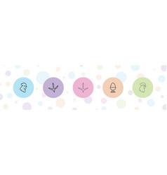 5 hen icons vector