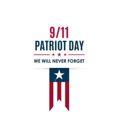 911 patriot day banner usa patriot day card vector image