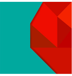 Abstract background with colorful geometric figure vector