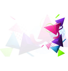 abstract colorful 3d triangle and minimal modern vector image