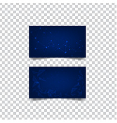 Abstract geometric banner on transparent vector