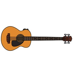 Acoustic bass guitar vector