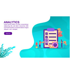 analytics concept with character template for vector image