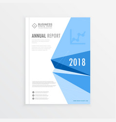 annual report magazine branding cover page in a4 vector image