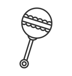 Baby rattle icon vector