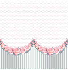 Background with garland of flowers and vector
