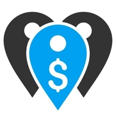 Bank Marks Flat Icon vector image