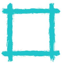 Blank frame by brushstroke texture vector