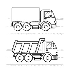 Cars and vehicles coloring book for kids Dump vector