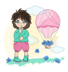 child dream valentines day set vector image