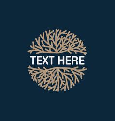 Coral logo icon design template vector