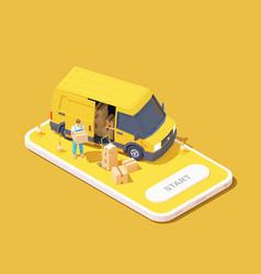 Delivery service app vector