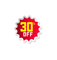 Discount 30 off template design vector