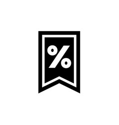discount percent tag flat icon vector image