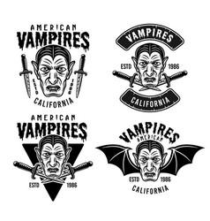 Dracula emblems or apparel design prints vector