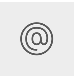 e-mail internet thin line icon vector image