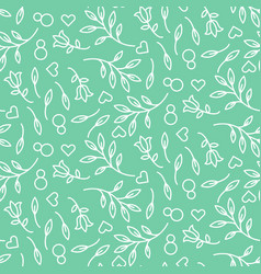 eight march womens day seamless pattern vector image
