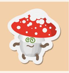 Emoticons mushrooms vector