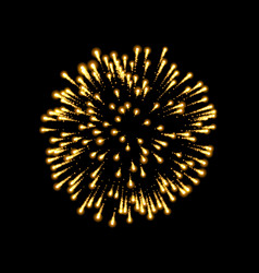 firework gold bursting isolated background vector image