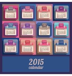 Flat calendar 2015 year design vector image