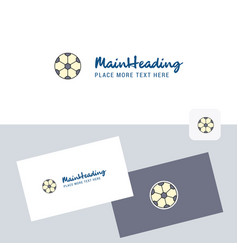 football logotype with business card template vector image