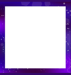 galaxy square photo frame on white background vector image