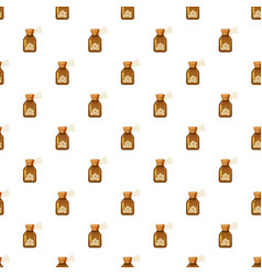 Glass bottle of tablets pattern vector