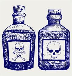 Glass bottles poison vector