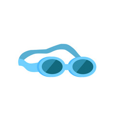 Glasses for swimming emblem cartoon icon vector