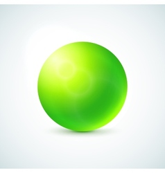 Green glossy sphere isolated on white vector