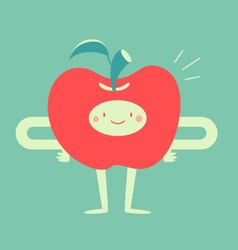 Happy Apple Smiling vector image
