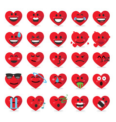 heart emoticon emoji vector image