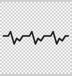 heartbeat icon in flat style heartbeat on vector image