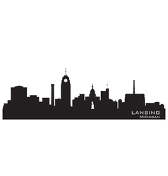 Lansing Michigan skyline Detailed silhouett vector image vector image