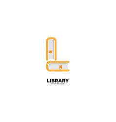 Letter l library logo template icon element vector