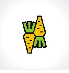 Logo carrots vector